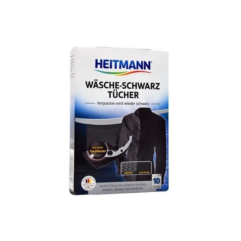 Heitmann - Chusteczki przywracające czerń 10 szt
