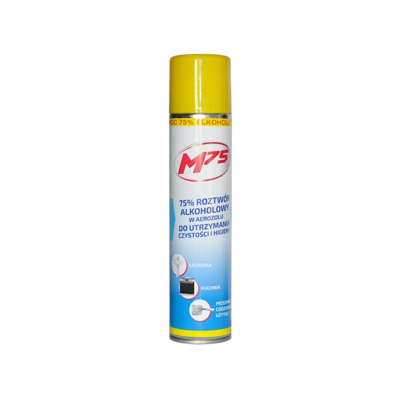 M75 - 75% roztwór alkoholu do utrzymania czystości i higieny 300 ml