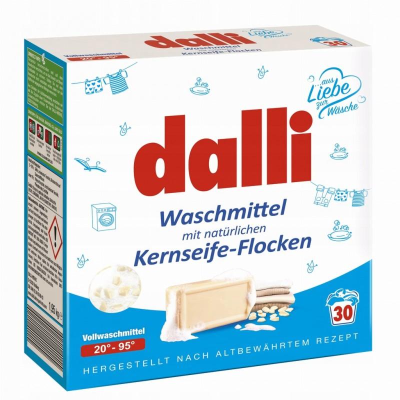 DALLI - Proszek do prania z płatkami mydlanymi 1,95 kg