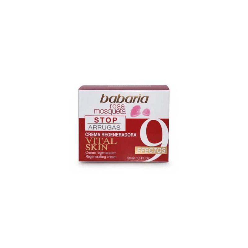 Babaria - Krem przeciwzmarszczkowy - 9 efektów - na bazie 100% olejku z róży piżmowej - 50 ml