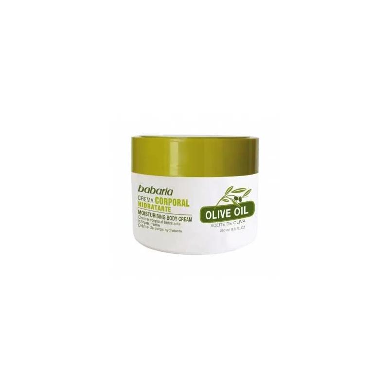 Babaria - Nawilżający krem do ciała na bazie 100% oliwy z oliwek z witaminą E - 250 ml
