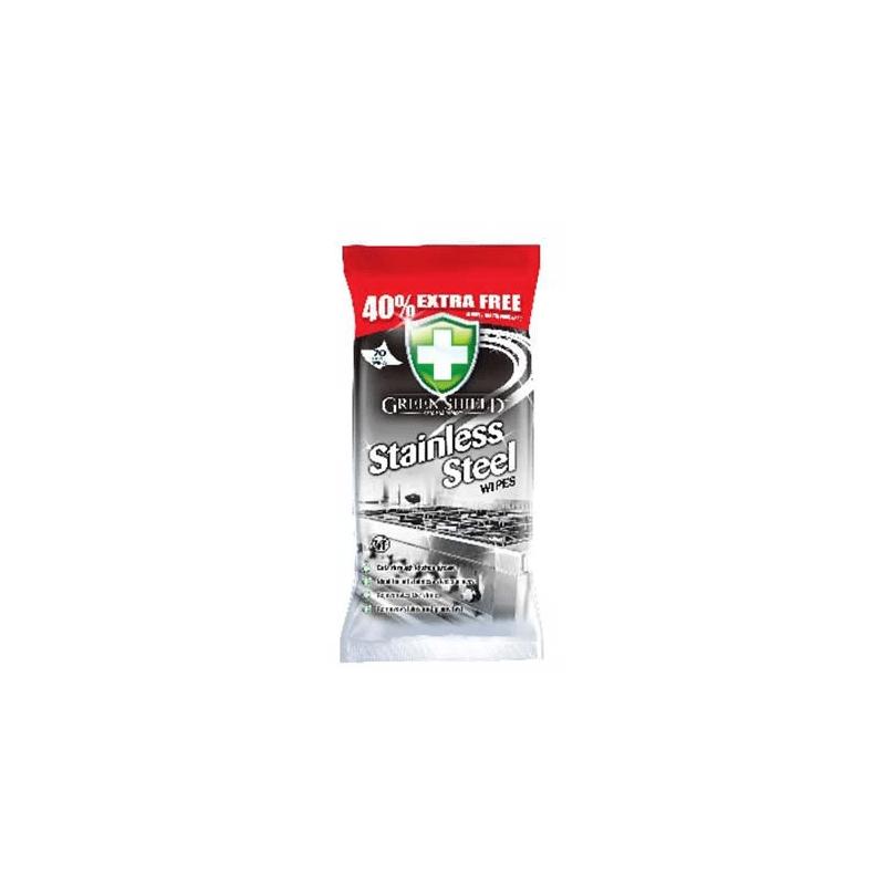 Green Shield 70 Szt. Chusteczki stali nierdzewnej