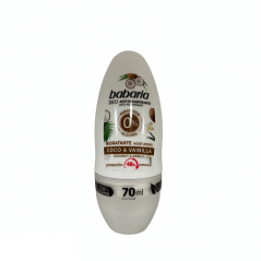 Babaria - Roll On Nawilżający kokos i wanilia 70 ml