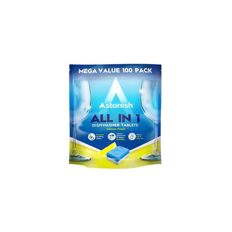 Astonish - Tabletki do zmywarki All in 1 lemon 100 szt